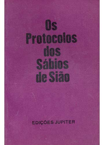 livro os protocolos dos sabios de siao