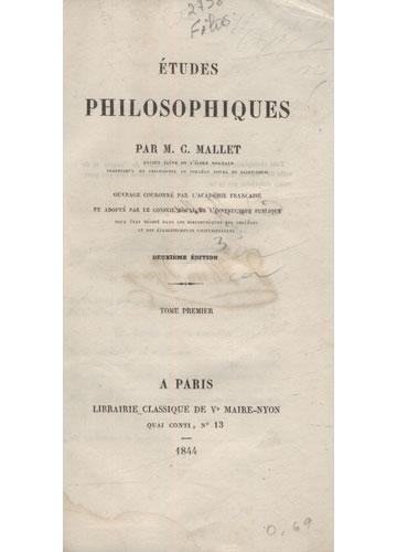 Études Philosophiques - 2 Volumes em 1
