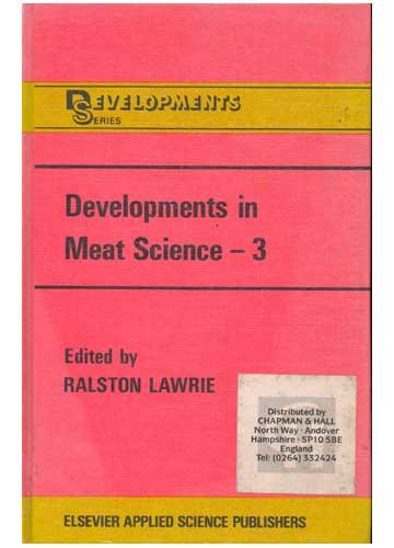 Developments in Meat Science - 3