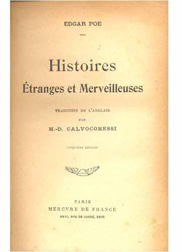 Histoires Étranges et Merveilleuses