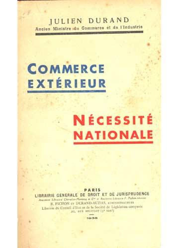 Commerce Extérieur - Nécessité Nationale