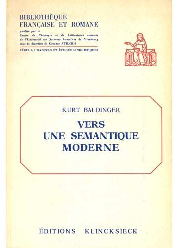 Vers Une Semantique Moderne