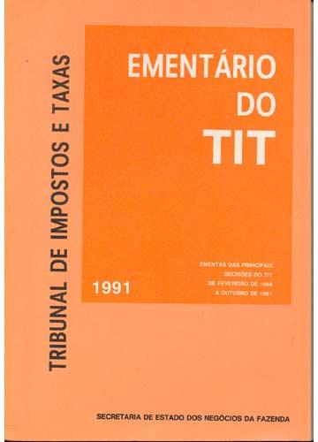 Ementário do TIT - Tribunal de Impostos e Taxas 1991