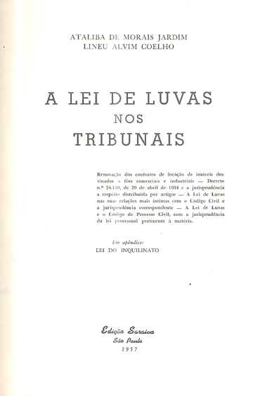 A Lei de Luvas nos Tribunais