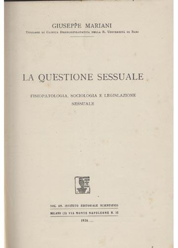 La Questione Sessuale