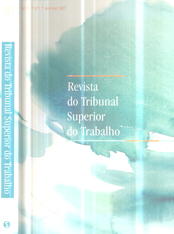 Revista do Tribunal Superior do Trabalho - Volume 73 - Nº.01 - Jan/ Mar 2007