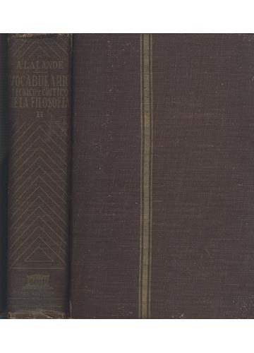 Vocabulario Técnico y Crítico de la Filosofía - Tomo II