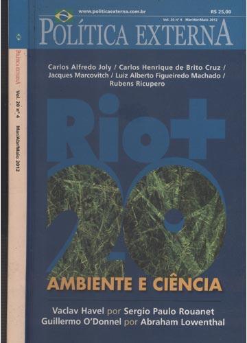 Política Externa - Vol. 20 - Nº4 - Mar / Abr / Maio 2012