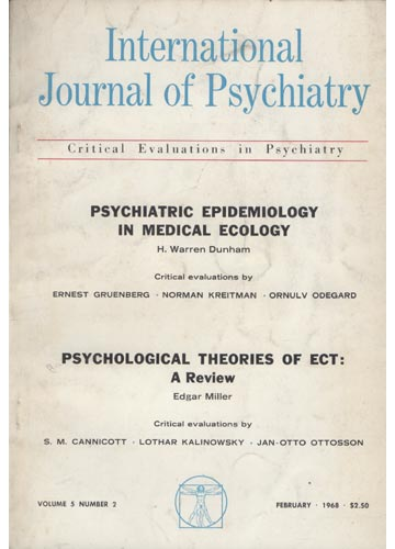 Internacional Journal of Psychiatry - Volume 5 - N°2 - February 1968