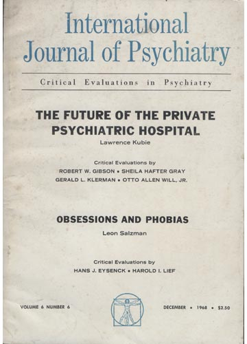 Internacional Journal of Psychiatry - Volume 6 - N°5 - December 1968