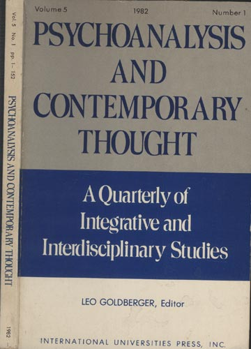 Psychoanalysis and Contemporary Thought - Volume 5 - N°1