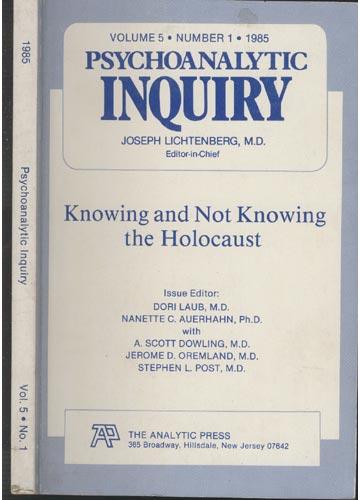 Psychoanalytic Inquiry - Volume 5 - Nº 1 - 1985