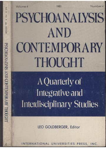 Psychoanalysis and Contemporary Thought - Vol.4 - Nº4 - 1981