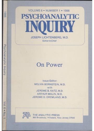 Psychoanalytic Inquiry - Volume 6 - Nº 1 - 1986