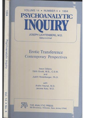 Psychoanalytic Inquiry - Volume 14 - Nº 4 - 1994
