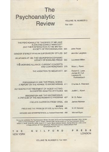 The Psychoanalytic Review - Volume 78 - 1991