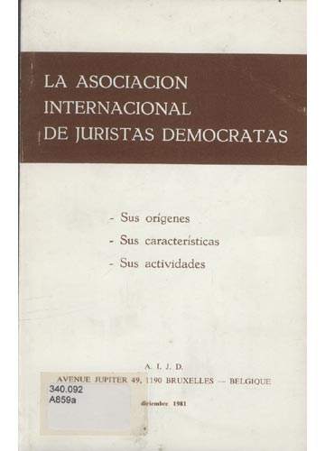 La Asociacion Internacional de Juristas Democratas