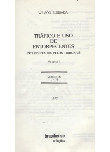 Tráfico e Uso de Entorpecentes - 5 Volumes