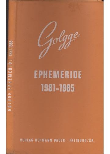 Golgge Ephemeride 1981-1985