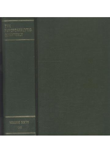 The Psychoanalytic Quarterly - Volume 16 - 1991