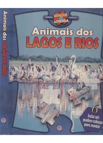 Animais dos Lagos e Rios - Com 6 Quebra-Cabeças