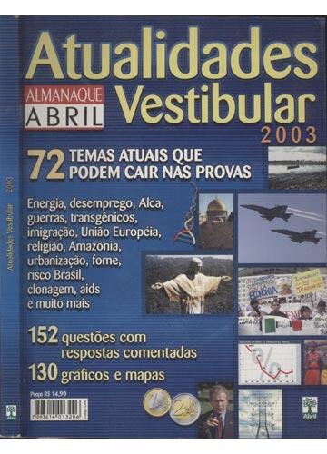 Atualidades Vestibular 2003