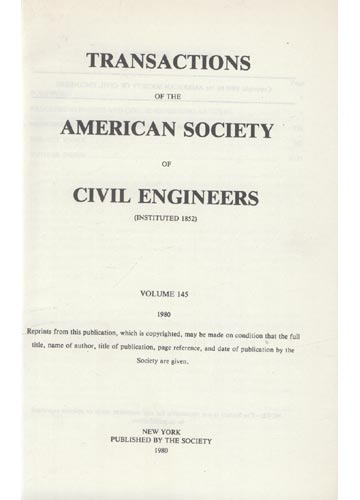 Transactions of the American Society of Civil Engineers - Volume 145 - 1980