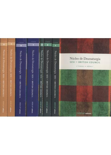 Núcleo de Dramaturgia - Sesi - British Council - 3 Volumes em 7 Tomos