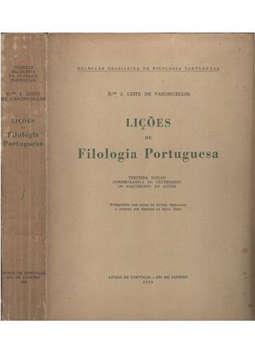 Lições de Filologia Portuguesa