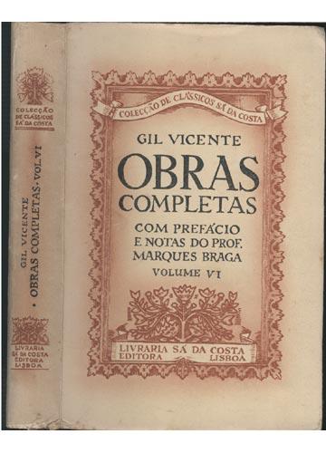 Gil Vicente - Obras Completas - Volume VI