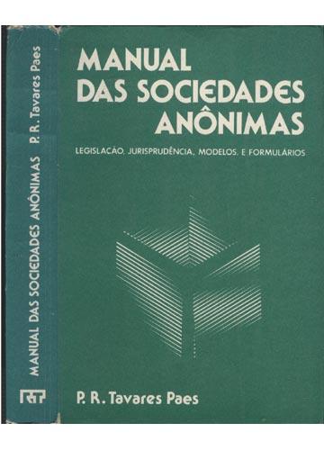 Manual das Sociedades Anônimas