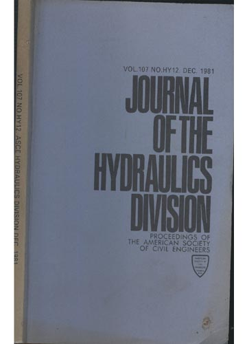 Asce Hydraulics Division - Dec.1981 - Vol. 107 - No.Hy12.