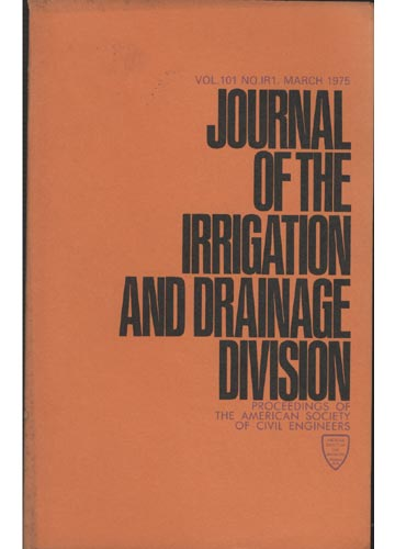 Asce Irrigation and Drainage Division - March 1975 - Vol. 101 - No.IR1
