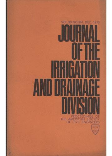 Asce Irrigation and Drainage Division - Dec. 1973 - Vol. 99 - No.IR4