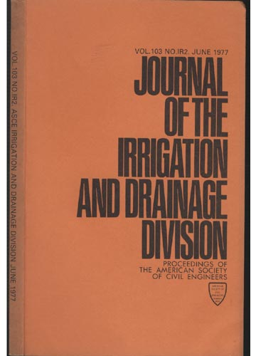 Asce Irrigation and Drainage Division - June 1977 - Vol. 103 - No.IR2