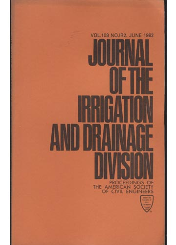 Asce Irrigation and Drainage Division - June 1982 - Vol. 108 - No.IR2