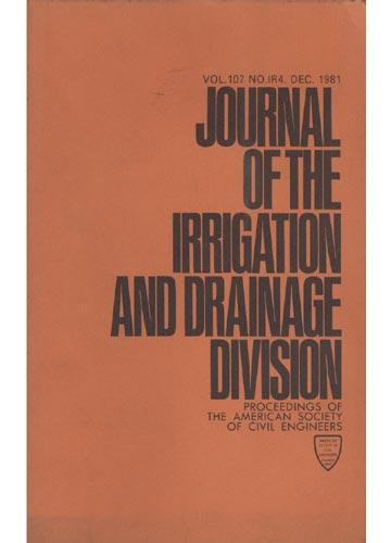 Asce Irrigation and Drainage Division - Dec. 1981 - Vol. 107 - No.IR4