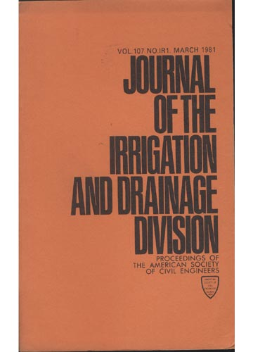 Asce Irrigation and Drainage Division - March 1981 - Vol. 107 - No.IR1