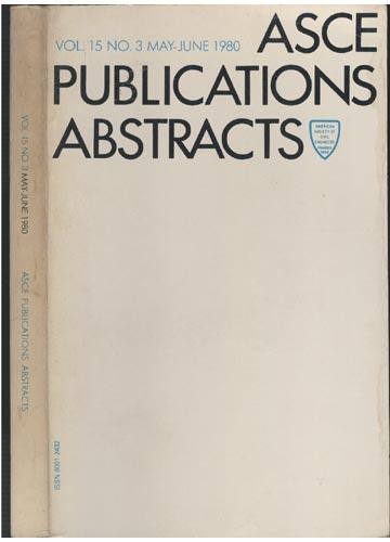 ASCE Publications Abstracts - Vol. 15 No. 3 May-June 1980