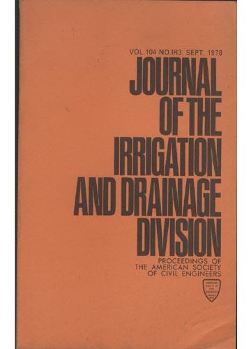 Asce Irrigation and Drainage Division - Sept. 1978 - Vol. 104 - No.IR3