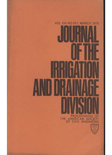 Asce Irrigation and Drainage Division - March 1978 - Vol. 104 - No.IR1
