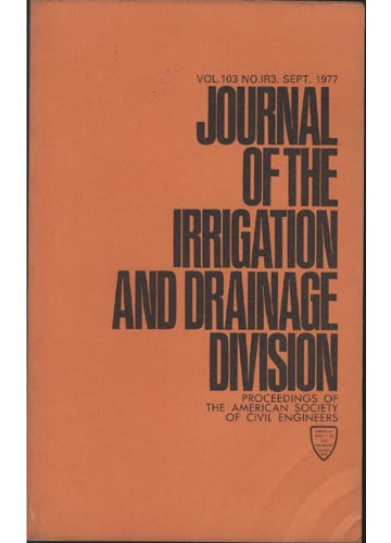 Asce Irrigation and Drainage Division - Sept. 1977 - Vol. 103 - No.IR3