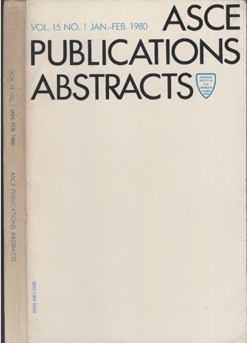 ASCE Publications Abstracts - Vol. 15 No. 1 Jan.-Feb. 1980