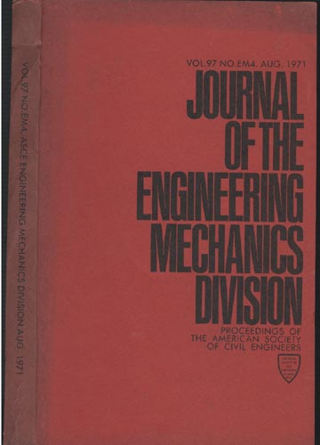 Asce Engineering Mechanics Division - Aug. 1971 - Vol. 97 - No.EM4.