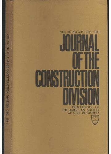 Asce Construction Division - Dec. 1981 - Vol. 107 - No.Co4.
