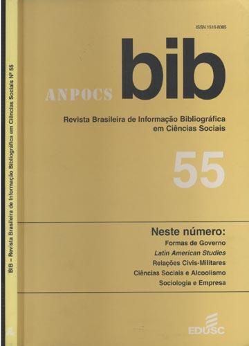 BIB - Revista Brasileira de Informação Bibliográfica em Ciências Sociais - N. 55