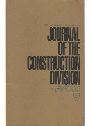 Asce Construction Division - March 1974 - Vol. 100 - No.Co1.