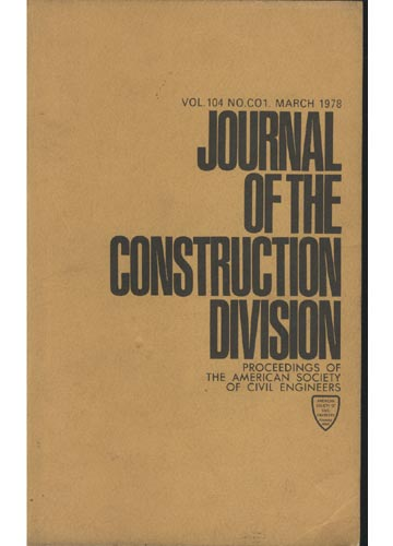 Asce Construction Engineering Division - March 1978 - Vol. 104 - No.Co1.