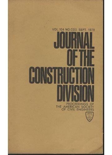 Asce Construction Division - Sept. 1978 - Vol. 104 - No.Co3.