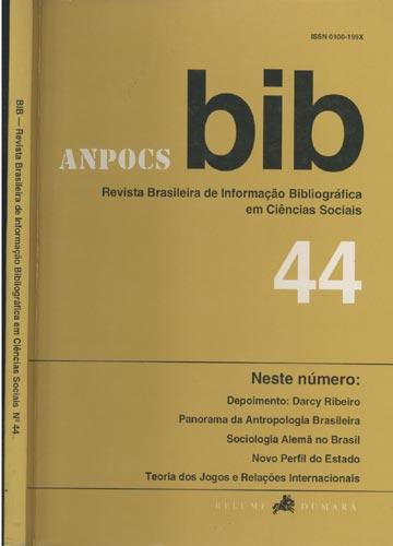 BIB - Revista Brasileira de Informação Bibliográfica em Ciências Sociais - Nº.44